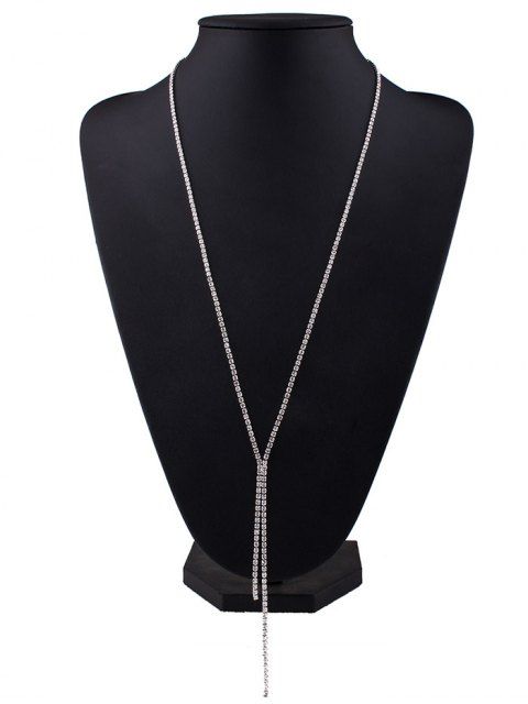 buy Rhinestoned Pendant Necklace -   Mobile