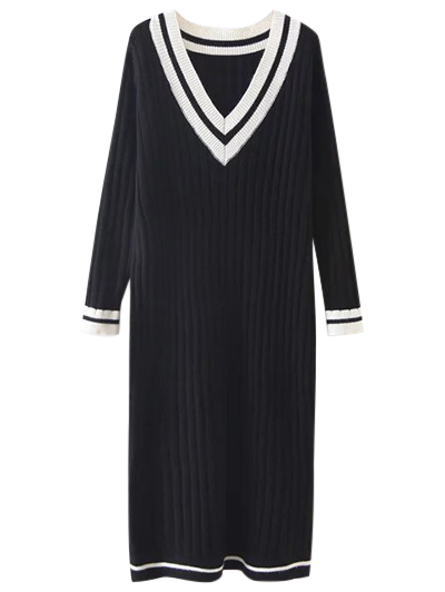 Midi Jumper Dress - BLACK ONE SIZE Mobile