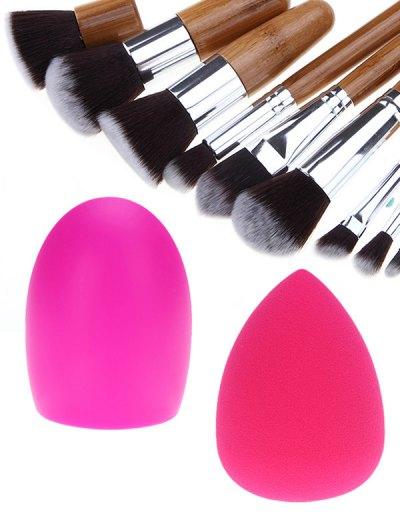 Makeup Brushes Set Brush Egg and Beauty Blender - SILVER  Mobile
