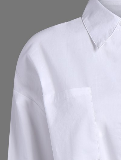 Pocket Tie Knot Shirt от Zaful.com INT