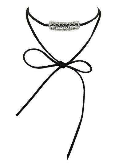Rhinestone Layered Wrap Choker - BLACK  Mobile