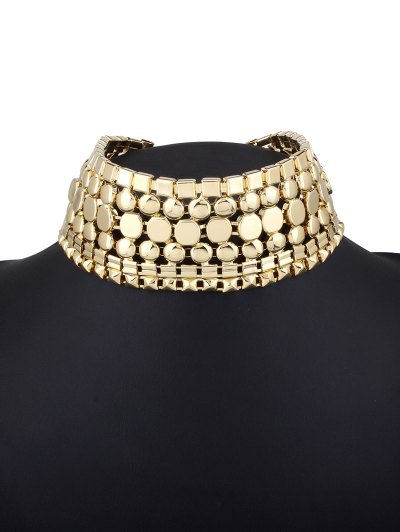 Alloy Polished Wide Necklace - CHAMPAGNE  Mobile