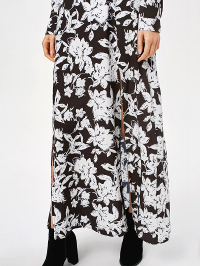Printed Thigh Split Maxi Dress от Zaful.com INT