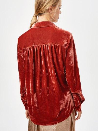 Cosy Long Sleeve Velour Shirt - JACINTH XL Mobile