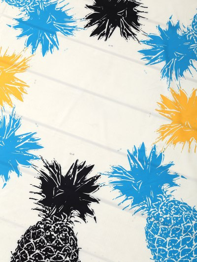 Pineapple Patterned Tassels Beach Throw - WHITE ONE SIZE Mobile