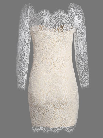 Off The Shoulder Bodycon Lace Dress - PALOMINO S Mobile
