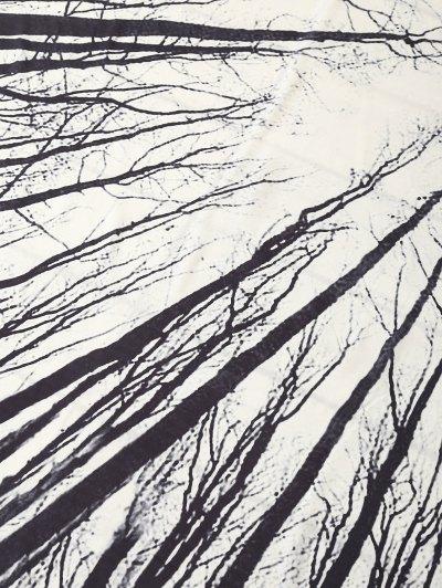 Rectangle Print Beach Throw - WHITE ONE SIZE Mobile