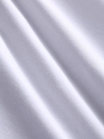 Text Print Graphic Tee - WHITE 3XL Mobile