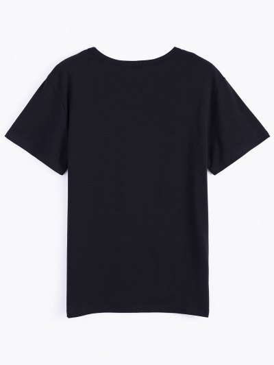 Roll Short Sleeve Graphic Tee - BLACK L Mobile