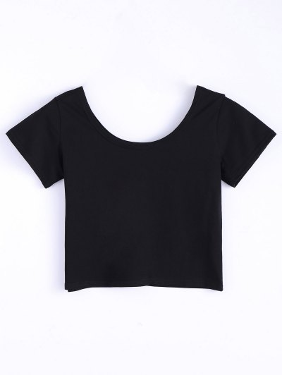 I Never Liked You Anyway Cropped Tee - BLACK L Mobile