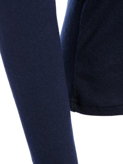 Foldover Off Shoulder Top - PURPLISH BLUE M Mobile