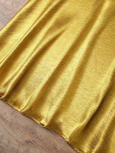 Mini Metallic Satin Choker Dress от Zaful.com INT