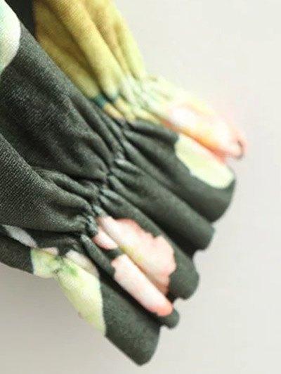 Floral Print Velvet Bodysuit - FLORAL M Mobile