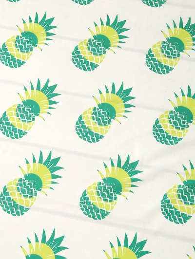 Pineapple Print Tassel Beach Throw - NEON GREEN ONE SIZE Mobile