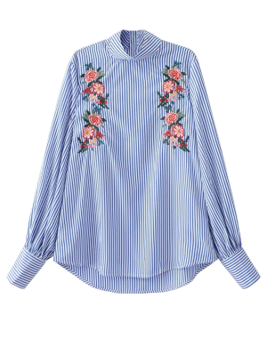 Floral Bordada Blusa Ray - Raya