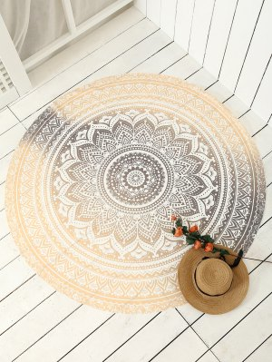 Printed Circle Beach Throw