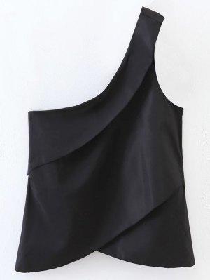 Layered One Shoulder Top - Black