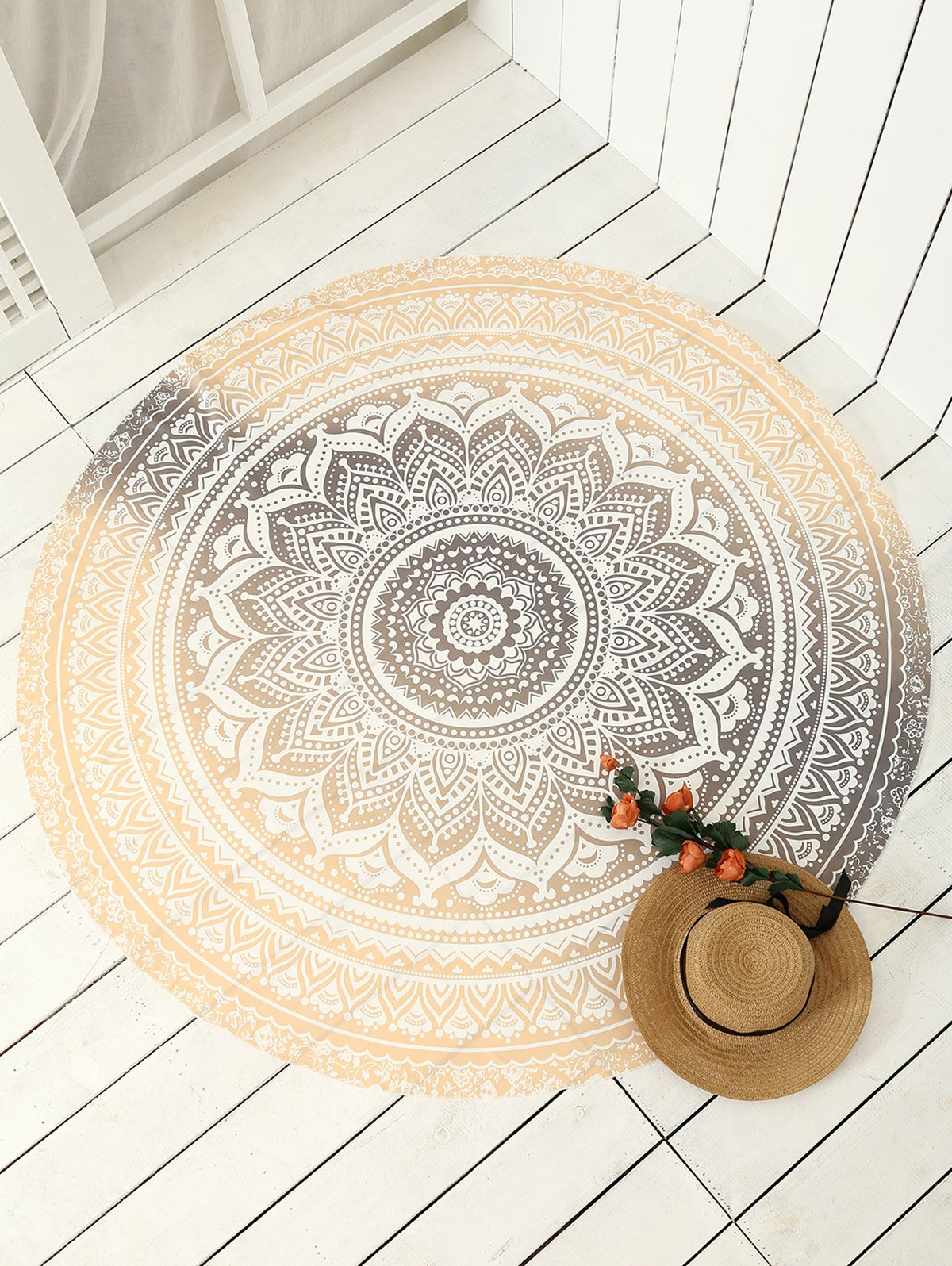 Cover Up Print Circle Beach Throw