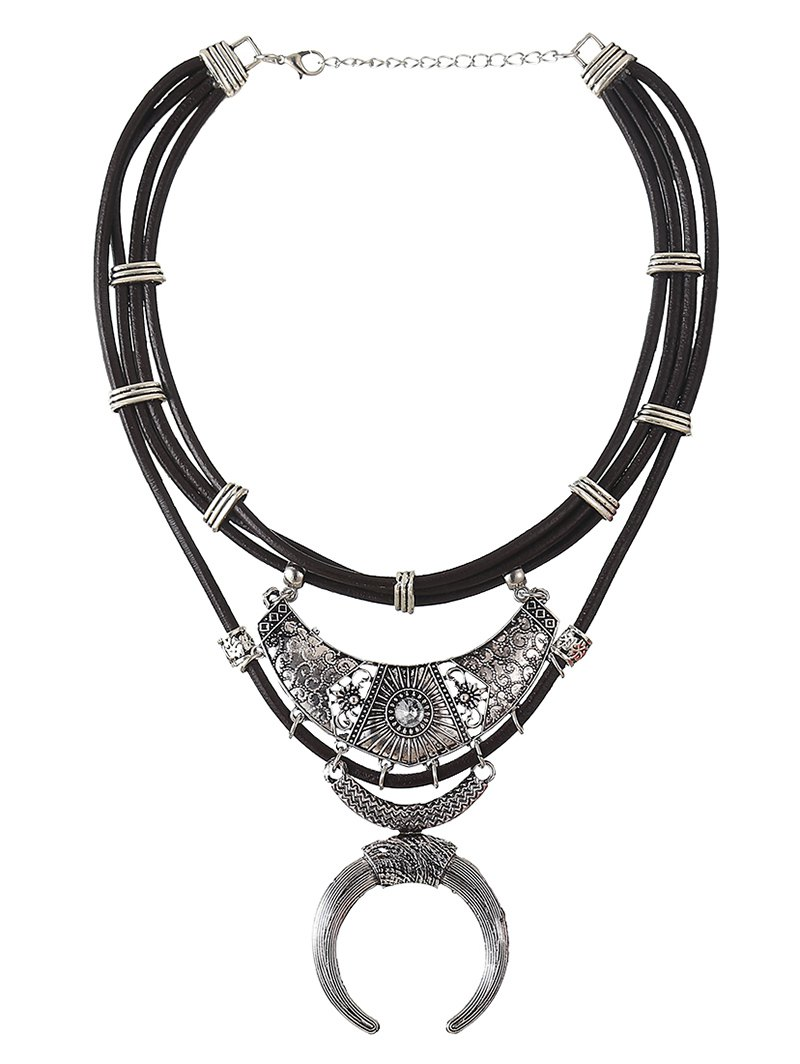 Faux Leather Crescent Necklace от Zaful.com INT