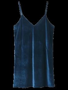 Spaghetti Strap Velour Dress