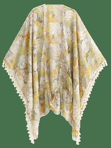 Impreso Bohemio De La Borla Del Kimono - Floral