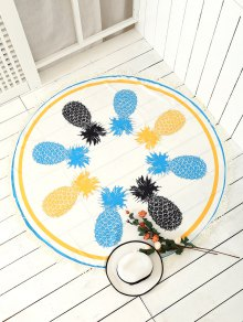 Pineapple Patterned Tassels Beach Throw