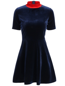 Fitting Velvet Swing Dress