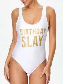 Birthday Slay Letter Swimwear
