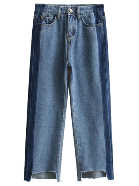 Deshilachados mamá Fit Jeans - Denim Blue M