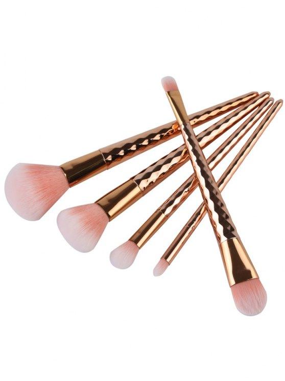 10 Pcs Nylon Makeup Brushes - GOLDEN  Mobile