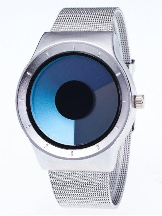Metal Mesh Ombre Quartz Watch - BLUE  Mobile
