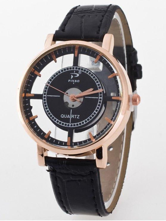 See-Through Quartz Watch - BLACK  Mobile
