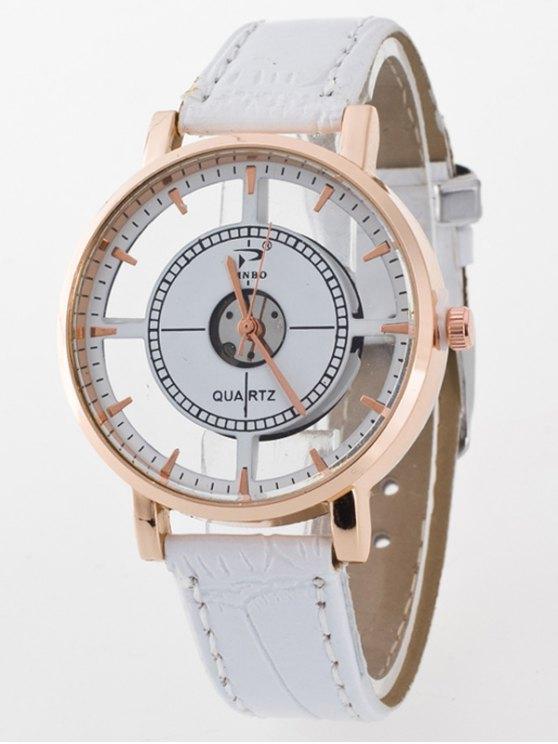 See-Through Quartz Watch - WHITE  Mobile