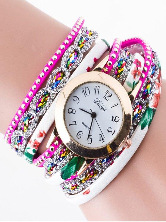 Rhinestone Wrap Bracelet Watch - TUTTI FRUTTI  Mobile
