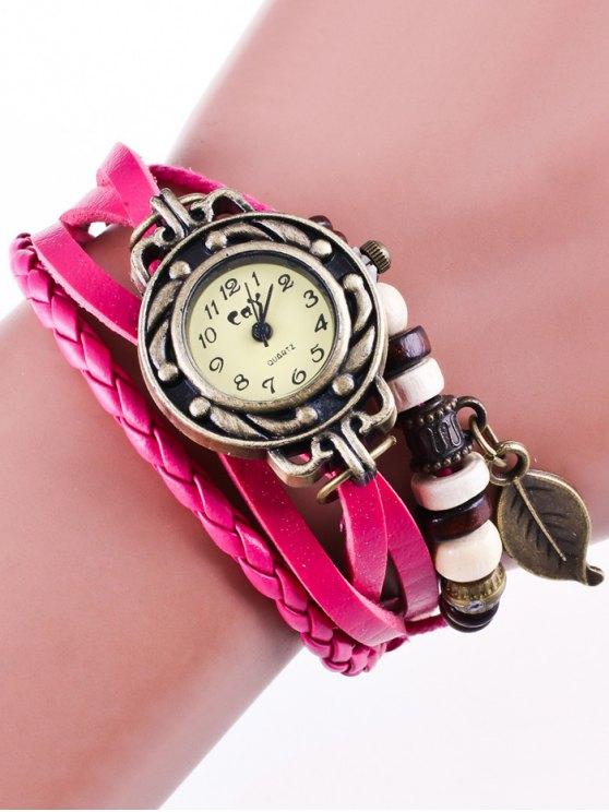 Faux Leather Strand Bracelet Watch - TUTTI FRUTTI  Mobile