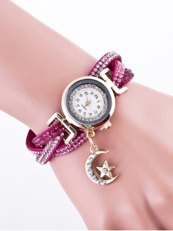 Rhinestone Studded Bracelet Watch - TUTTI FRUTTI  Mobile