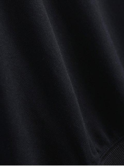 shops Contrast Letter Pullover Sweatshirt - BLACK S Mobile