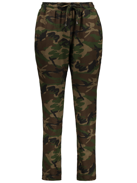 outfit Camo Drawstring Pants - ARMY GREEN M Mobile