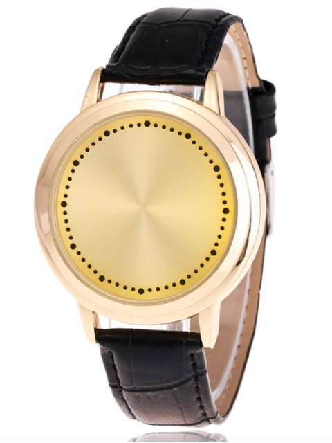 latest Faux Leather LED Watch -   Mobile