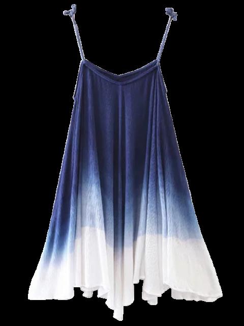 outfits Ombre Trapeze Slip Dress - PURPLISH BLUE S Mobile