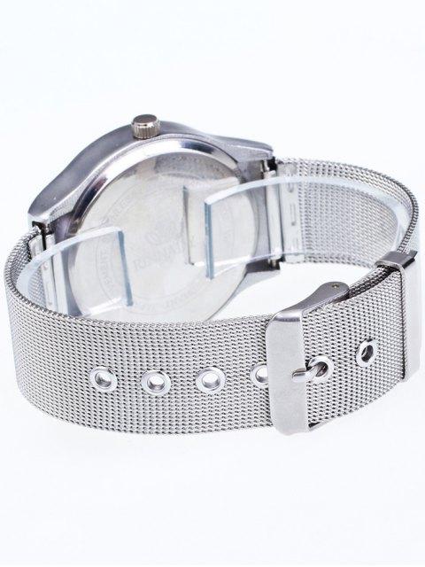 chic Metal Mesh Ombre Quartz Watch - BLUE  Mobile
