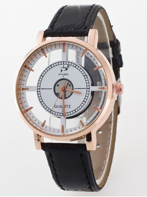online See-Through Quartz Watch - WHITE AND BLACK  Mobile