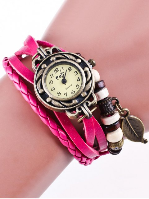 hot Faux Leather Strand Bracelet Watch - TUTTI FRUTTI  Mobile