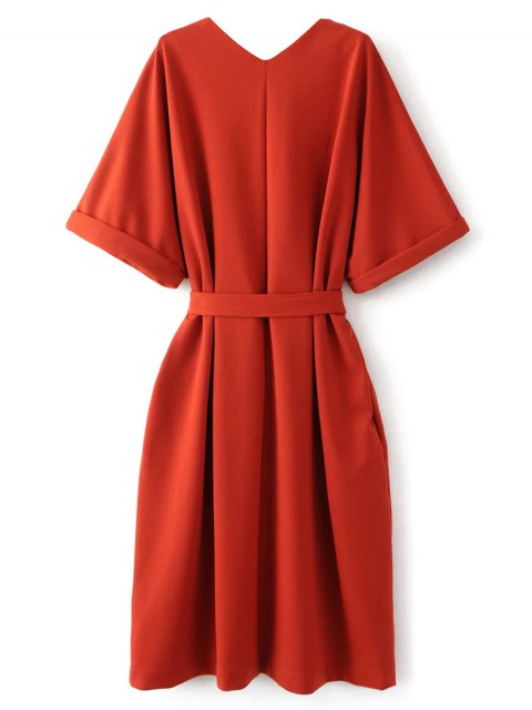 buy Tie Waist Kimono Sleeve Work Dress - JACINTH M Mobile