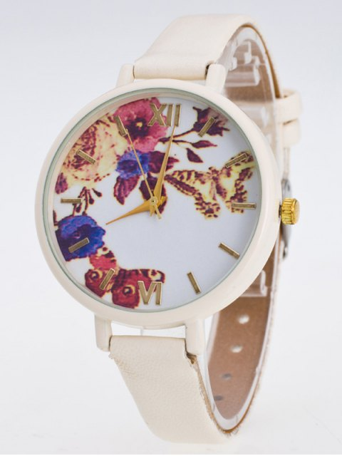 online Faux Leather Flower Butterfly Watch - PALOMINO  Mobile
