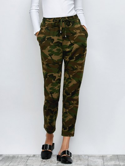Camo Drawstring Pants - ARMY GREEN 2XL Mobile