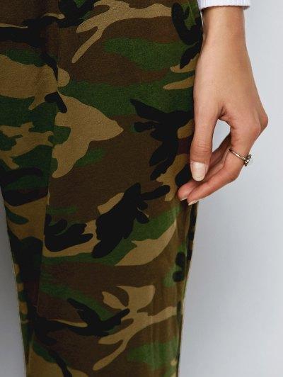 Camo Drawstring Pants - ARMY GREEN M Mobile