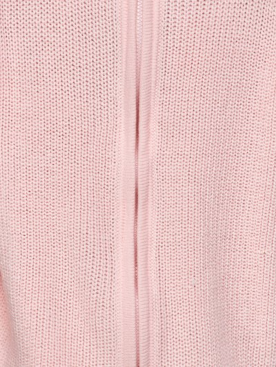Chunky Back Zipper Sweater - LIGHT PINK 2XL Mobile