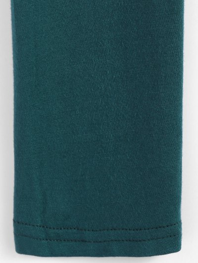 Cropped Plunge Tee - GREEN M Mobile