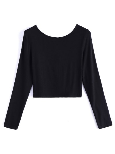 Cropped Plunge Tee - BLACK 2XL Mobile